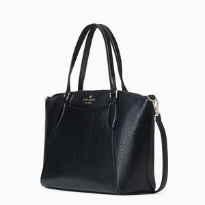 NWT Kate Spade genuine leather satchel black